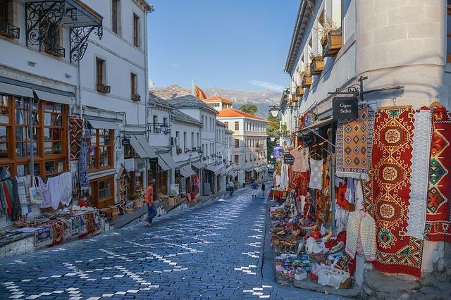 המדרחוב של ג'ירוקסטרה Gjirokaster