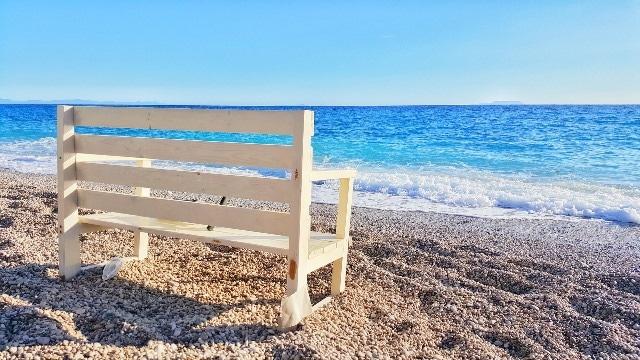 חוף אלבני טיפוסי