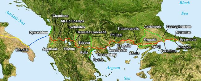דרך ויה אגנטיה - Via Egnatia