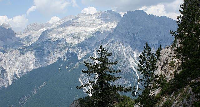 הר Jezerca באלפים האלבניים