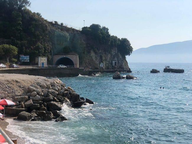 כביש החוף בוולורה (איזור המנהרה)