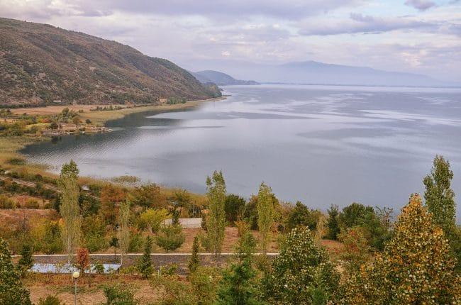 הגדה הצפונית של אגם אוחריד